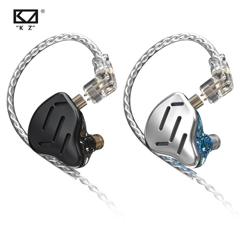 KZ ZAX Headset 16 Units 7BA +1DD  HIFI Bass In Ear Monitor Hybrid technology Earphones Noise Cancelling Earbuds  ZSN PRO X